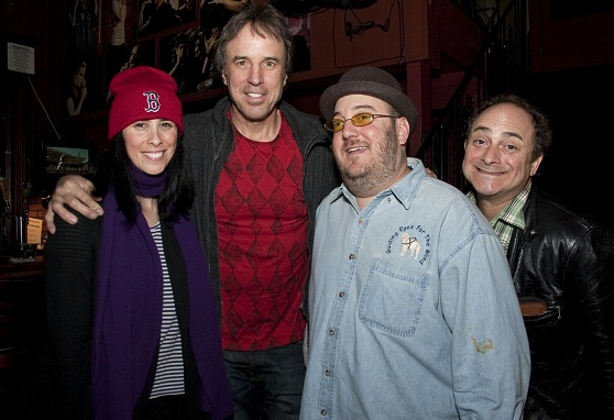 Photo of Sara Silverman, Kevin Nealon, Brian Fischler, Kevin Pollack at the Inaugural Laugh for Sight Los Angeles